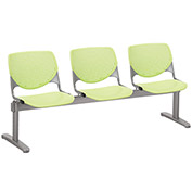 KFI Beam Seating Guest Chairs - 3 Seater - Lime Green