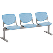 KFI Beam Seating Guest Chairs - 3 Seater - Sky Blue