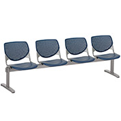 KFI Beam Seating Guest Chairs - 4 Seater - Navy