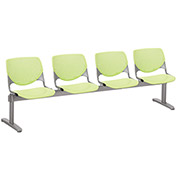 KFI Beam Seating Guest Chairs - 4 Seater - Lime Green