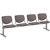 KFI Beam Seating Guest Chairs - 4 Seater - Brownstone