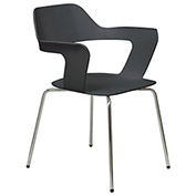 KFI Julep Stack Chair with Flex Poly Shell - Black