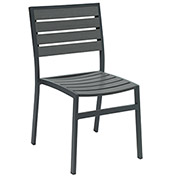 KFI Eveleen Outdoor Armless Chair - Dark Gray