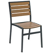 KFI Eveleen Outdoor Armless Chair - Mocha