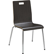 "KFI Seating JIVE Series Bentwood 21""H Stack Multi-Purpose Chair Espresso"