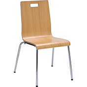 "KFI Seating JIVE Series Bentwood 21""H Stack Multi-Purpose Chair Natural"