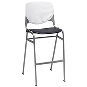 "KFI 30"" Poly Stack Chair with Perforated Back - White/Black"