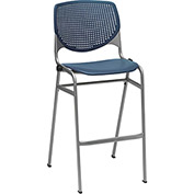 KFI Perforated Stack Stool - Plastic - Navy
