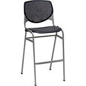 KFI Perforated Stack Stool - Plastic - Black