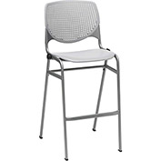 KFI Perforated Stack Stool - Plastic - Gray