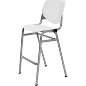 KFI Perforated Stack Stool - Plastic - White