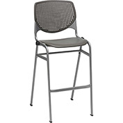 KFI Perforated Stack Stool - Plastic - Brownstone