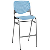 "KFI 30"" Poly Stack Chair with Perforated Back - Sky Blue"