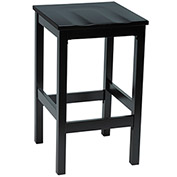KFI Wooden Bar Height Stool - Black