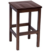 KFI Wooden Bar Height Stool - Mahogany