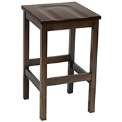 KFI Wooden Bar Height Stool - Walnut