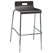 "KFI 30"" Low Back Barstool - Plywood Shell - Espresso"
