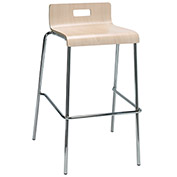 "KFI 30"" Low Back Barstool - Plywood Shell - Natural"