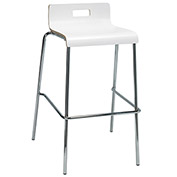 "KFI 30"" Low Back Barstool - Plywood Shell - White"