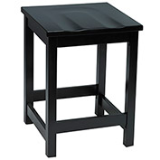 "KFI 24"" Counter Height Wood Stool - Black"