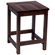 "KFI 24"" Counter Height Wood Stool - Mahogany"