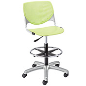 KFI Poly Adjustable Stool with Perforated Back - Lime Green