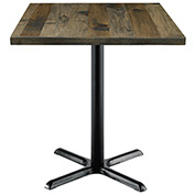 "KFI 30"" Square Vintage Wood Counter Table - Barnwood"