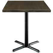 "KFI 30"" Square Vintage Wood Counter Table - Espresso"