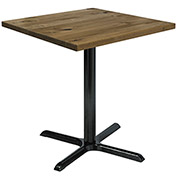"KFI 30"" Square Vintage Wood Counter Table - Natural"