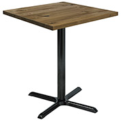 "KFI 30"" Square Vintage Wood Bistro Table - Natural"