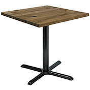 "KFI 30"" Square Vintage Wood Top Table - Natural"