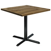 "KFI 36"" Square Vintage Wood Top Table - Natural"