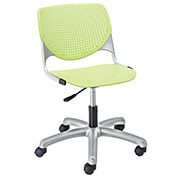 KFI Poly Task Chair with Casters and Perforated Back - Lime Green