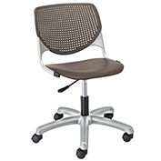 KFI Poly Task Chair with Casters and Perforated Back - Brownstone