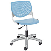 KFI Poly Task Chair with Casters and Perforated Back - Sky Blue