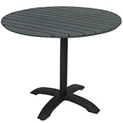 "KFI Eveleen 32"" Round Outdoor Pedestal Table - Dark Gray"