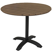 "KFI Eveleen 32"" Round Outdoor Pedestal Table - Mocha"