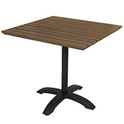 "KFI Eveleen 32"" Square Outdoor Pedestal Table - Mocha"