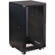 "Kendall Howard™ 22U LINIER® Server Cabinet - Glass/Vented Doors - 24"" Depth"