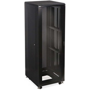 "Kendall Howard™ 37U LINIER® Server Cabinet - Glass/Vented Doors - 24"" Depth"