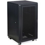 "Kendall Howard™ 22U LINIER® Server Cabinet - Convex/Glass Doors - 24"" Depth"