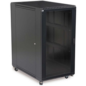 "Kendall Howard™ 22U LINIER® Server Cabinet - Glass/Glass Doors - 36"" Depth"