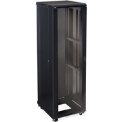 "Kendall Howard™ 42U LINIER® Server Cabinet - Glass/Glass Doors - 24"" Depth"