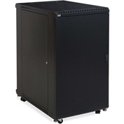 "Kendall Howard™ 22U LINIER® Server Cabinet - Solid/Convex Doors - 36"" Depth"