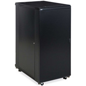 "Kendall Howard™ 27U LINIER® Server Cabinet - Solid/Convex Doors - 36"" Depth"