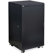 "Kendall Howard™ 22U LINIER® Server Cabinet - Solid/Convex Doors - 24"" Depth"