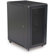 "Kendall Howard™ 22U LINIER® Server Cabinet - Convex/Convex Doors - 36"" Depth"
