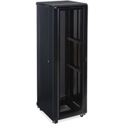 "Kendall Howard™ 42U LINIER® Server Cabinet - Convex/Convex Doors - 24"" Depth"