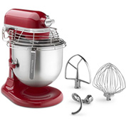 KitchenAid KSMC895ER - Commercial 8 Qt. Stand Mixer With Bowl Guard, Empire Red,  NSF