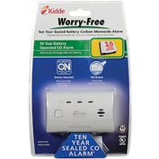 Kidde C3010 Worry-Free 10-Year Sealed Lithium Battery Operated CO Alarm